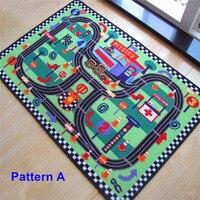 Circuito de Corridas de Carro Tráfego Rodoviário Urbano de alta Qualidade Do Jogo Do Bebê tapetes Tapete Engatinhando Tapete Brinquedos Educativos Para Crianças Meninos Jogar jogos