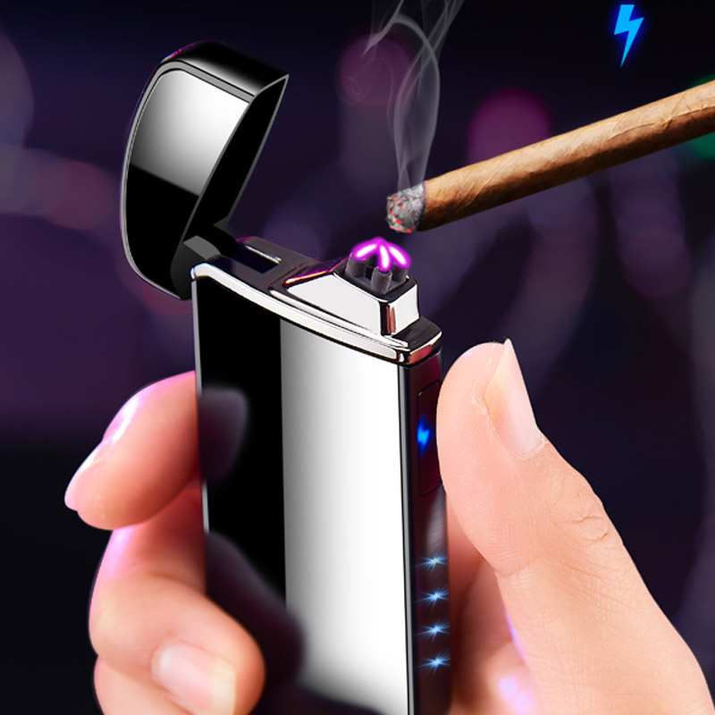 6 colors new arc USB charging lighter to send boyfriend birthday gift