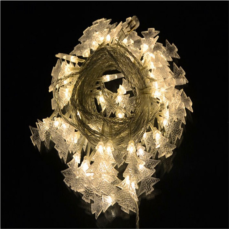 Free Shipping 6M 40LED Heart Shape light battery Tree Festival String Fairy Lights Wedding Party xmas Decoration