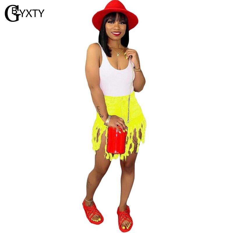 Gbyxty Streetwear Quaste Neon Farbe Jean Shorts Muer Plus Größe 3xl Hohe Taille Shorts Frauen Sommer Casual Denim Shorts 2019 Zl274 100% Garantie Gepäck & Taschen