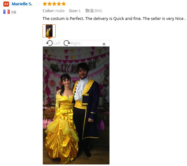 Free shipping belle costume adult princess belle beauty and the beast costume cosplay halloween costumes for women dress custom
