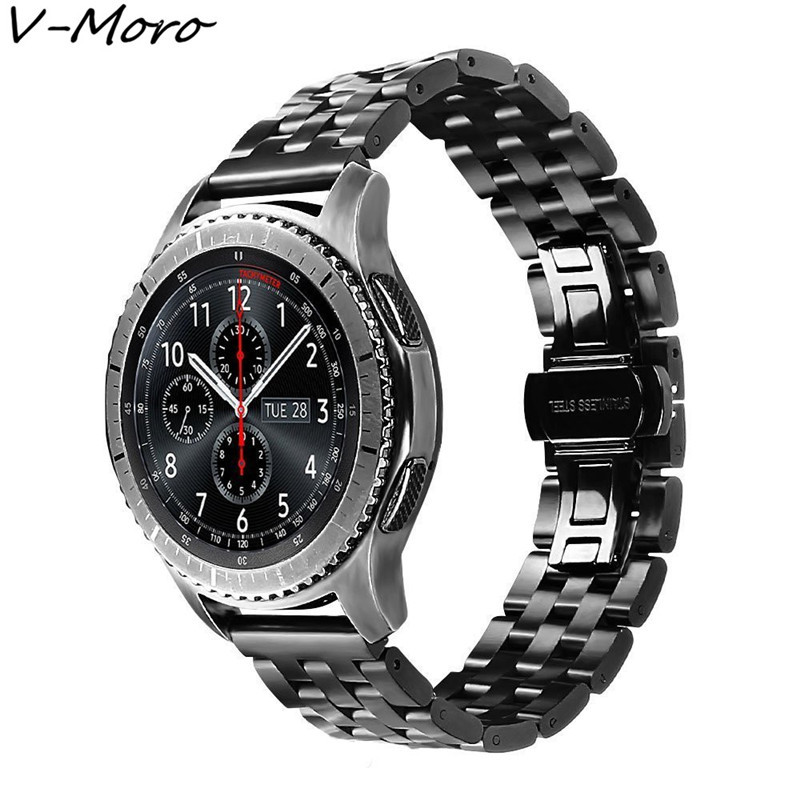gear s3 straps 2018 new v moro stainless steel bracelet for samsung gear s3 replacement band for. Black Bedroom Furniture Sets. Home Design Ideas