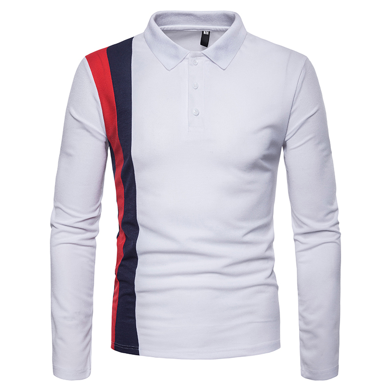 Image 3 - Covrlge 2018 High Quality Tops&Tees Men's Polo Shirts Business Fashion Autumn Slim Fit Style Long Sleeve Polo Shirt Men MTP102-in Polo from Men's Clothing