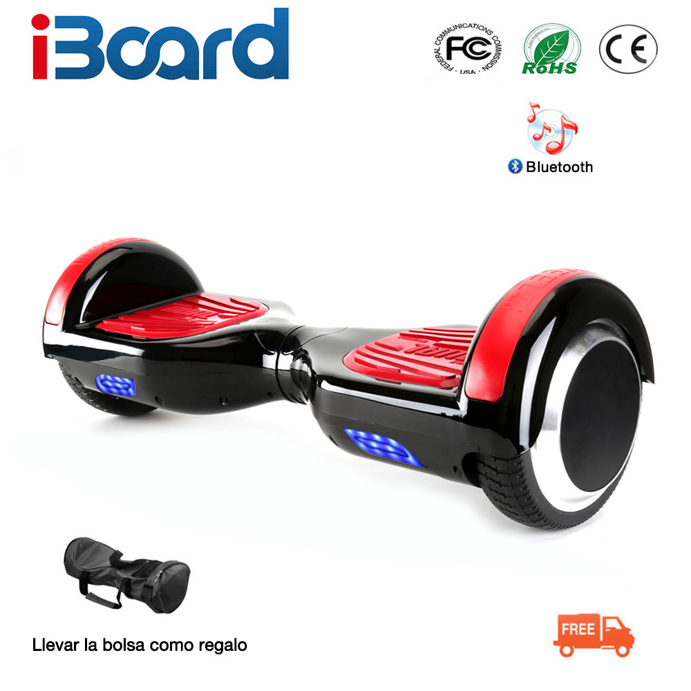 iBoard 6.5 Inch Hoverboard Two Wheels Self Balance Scooter Hover Board With Carry Bag Bluetooth UL Certificated 6 5 adult electric scooter hoverboard skateboard overboard smart balance skateboard balance board giroskuter or oxboard