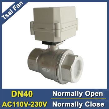 11/2'' stainless steel full port AC110V-230V electric normally open / close valve DN40 Motorized ball valve with indicator