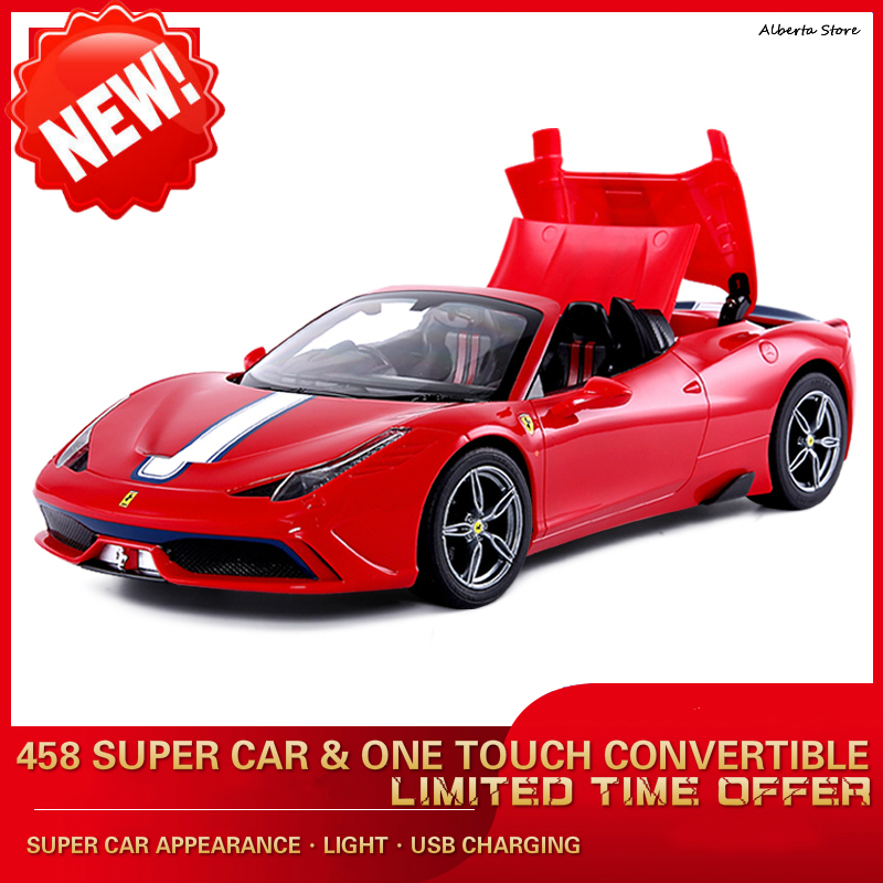 New 458 Child Remote Control Car Electric Convertible Car Simulation Model Car USB Charging Baby Remote Control Toy Outdoor ToysNew 458 Child Remote Control Car Electric Convertible Car Simulation Model Car USB Charging Baby Remote Control Toy Outdoor Toys