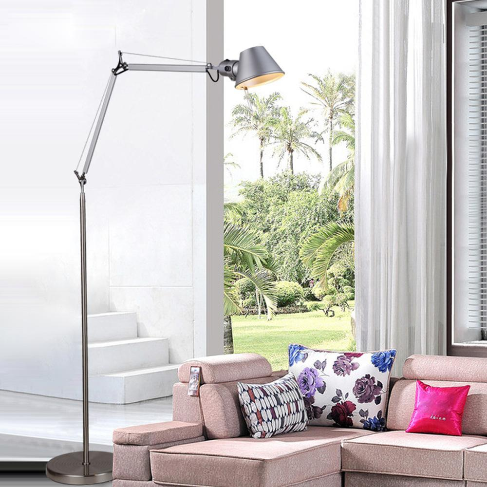 Minimalistic Floor Lamp 1.5M Aluminum Hat Shape Office Lighting Standing  Lamp E27 Expansible Foyer Study Cafe Decoration Lights In Floor Lamps From  Lights ...