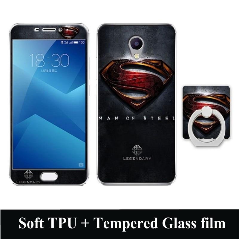 Estuche de dibujos animados 3D para Meizu M5 Note Película de vidrio - Accesorios y repuestos para celulares - foto 2