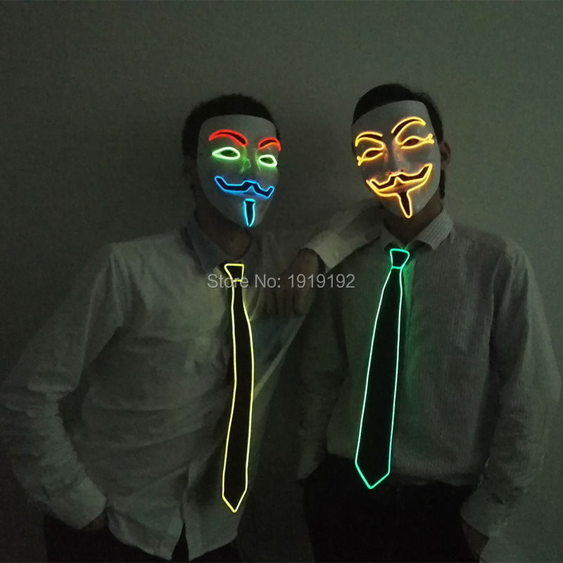 Filmi i Vendetta el tel Masks Cosplay MASK Costume maskë anonime për Glows Party dance Maska karnaval nga shofer DC-3V