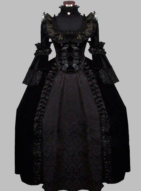 Luxury Gothic Black 19th Century Noble Victorian Era Dress Ball Gown  Cosplay Dress Cosplay Costume a9ef9c6ad766