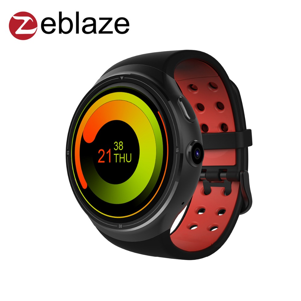 2017 New Arrival Zeblaze THOR Bluetooth Smart Watch 1GB+16GB SIM Card for IOS Android Phone with Camera GPS WIFI 3G Wristwatch  цены