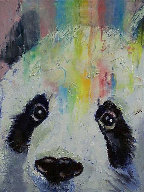 high quality animal paintings cute animal china panda oil painting