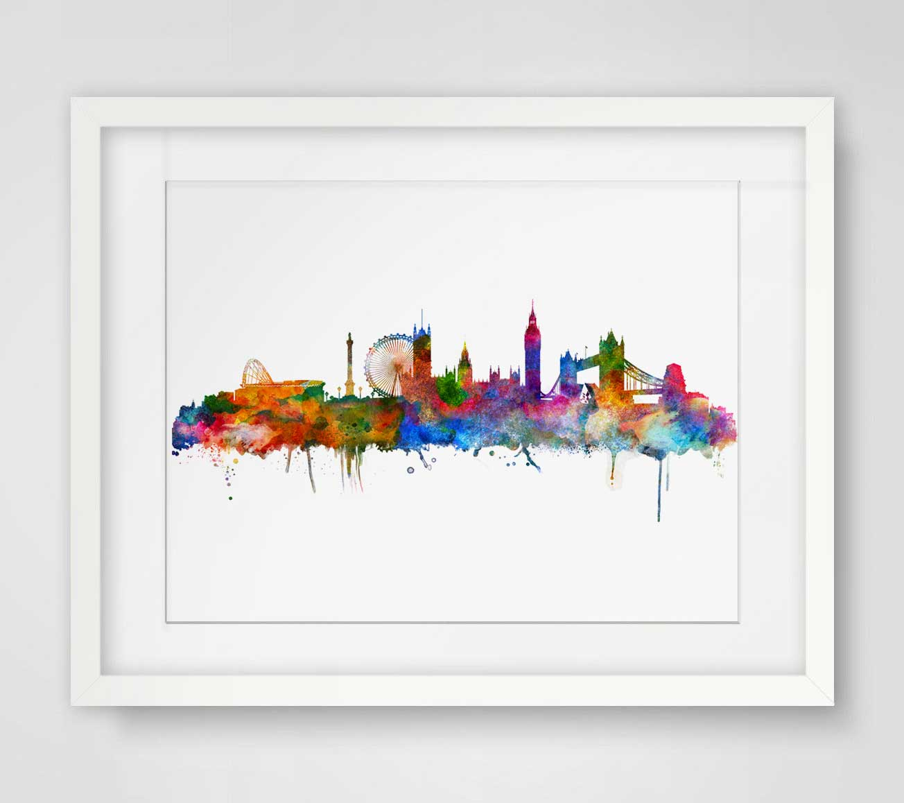 Buy london watercolor skyline city poster for Wall art to buy