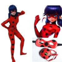 Miraculous Ladybug Suit Ladybug Cosplay Costumes Halloween Kids Adult Marinette Ladybug Jumpsuits Blinder Bag Full Zentai