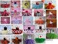 Envío gratis 2014 del vestido del tutú mullido tul hechos a mano crochet dress baby girls vestidos para el partido