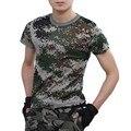 Homem Ocasional T-shirt Camuflagem Tático de Combate Do Exército Dos Homens do Algodão T camisa Camo Militar Mens T Shirts Moda 2016 Tops & Tees