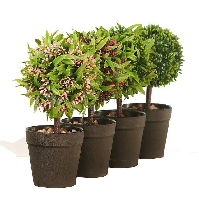 Online Shop Mini Fake Bonsai Flower Plants Potted Indoor ...