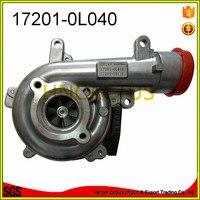 Atacado auto parte Turbo 17201-0L040 CT16V 17201-30110 Turbocompressor HILUX SW4/3.0L 1KD Landcruiser VIGO3000 1 1KDFTV