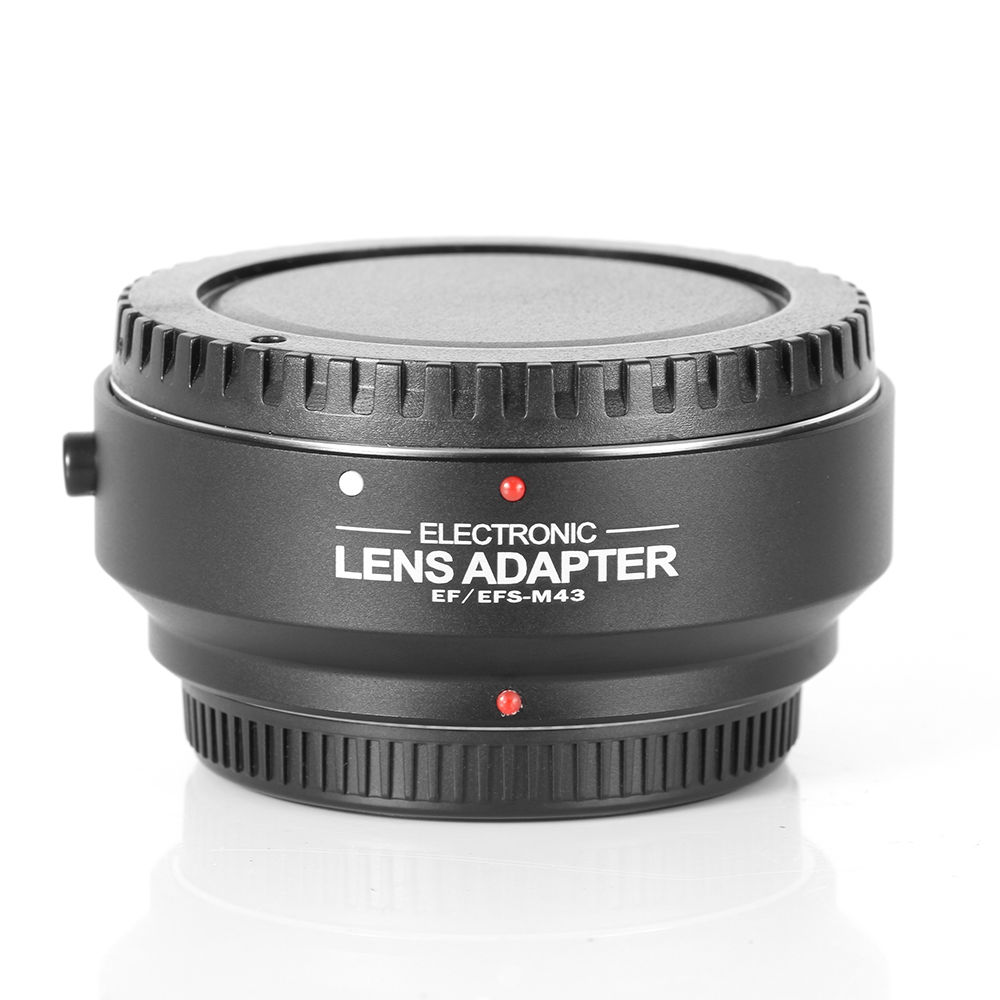 Electronic Auto Focus AF Adapter Lens Ring EF-MFT for Canon EF EF-S Lens to M4/3 Micro 4/3 Camera meke meike mk s af4 auto focus mount lens adapter ring for sony micro single camera to canon ef ef s camera