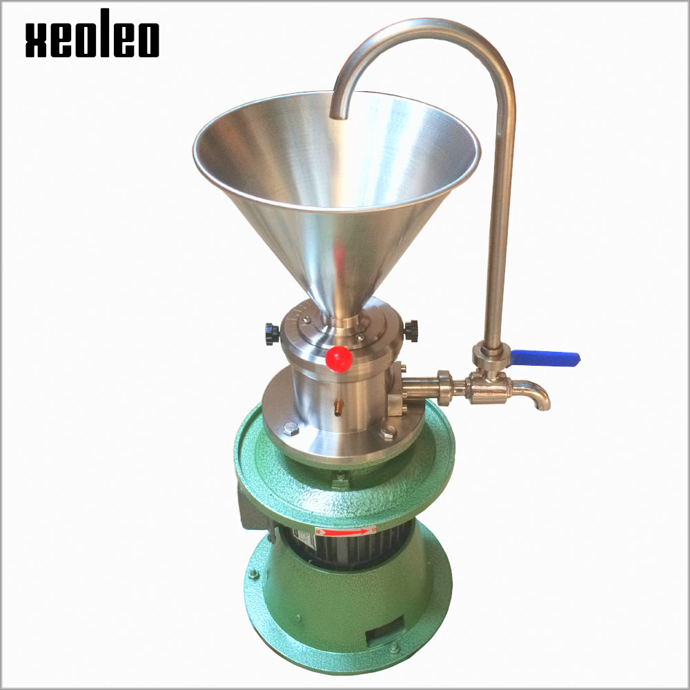 Xeoleo Peanut butter maker Peanut butter machine Sesame butter 1500W Grinding machine Commercial Grinder Butter Miller 30kg/h udmj 150 grain butter making machine cereal butter maker with motor