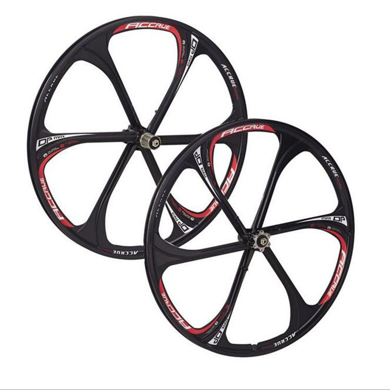 26 Inch Magnesium Alloy Bicycle Wheels Mountain Bicycle Wheel bike rims,MTB bike Rim 6 spokes mountain bike wheels mavi deemax mountain bike 26 27 5 29 inch bicycle two wheels set rim stickers for mtb vinyl race dirt replacement decals