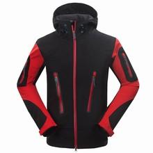 Mammoth 2017 Waterproof Hooded Softshell Jacket Men Mammoth Hiking Clothing Thermal Tech Fleece Ski Fishing Climbing Clothes