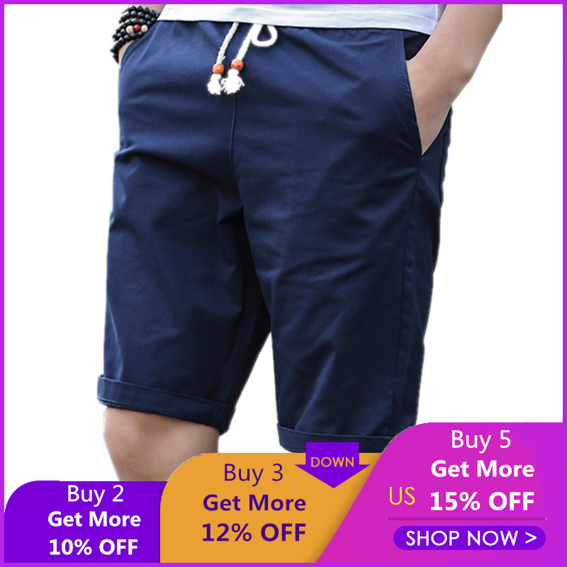 Cotton Shorts Men Brand Casual Summer Plus Size Men Short Knee Length Surfings Short Leisure Fitness Breathable Shorts 5XL 255