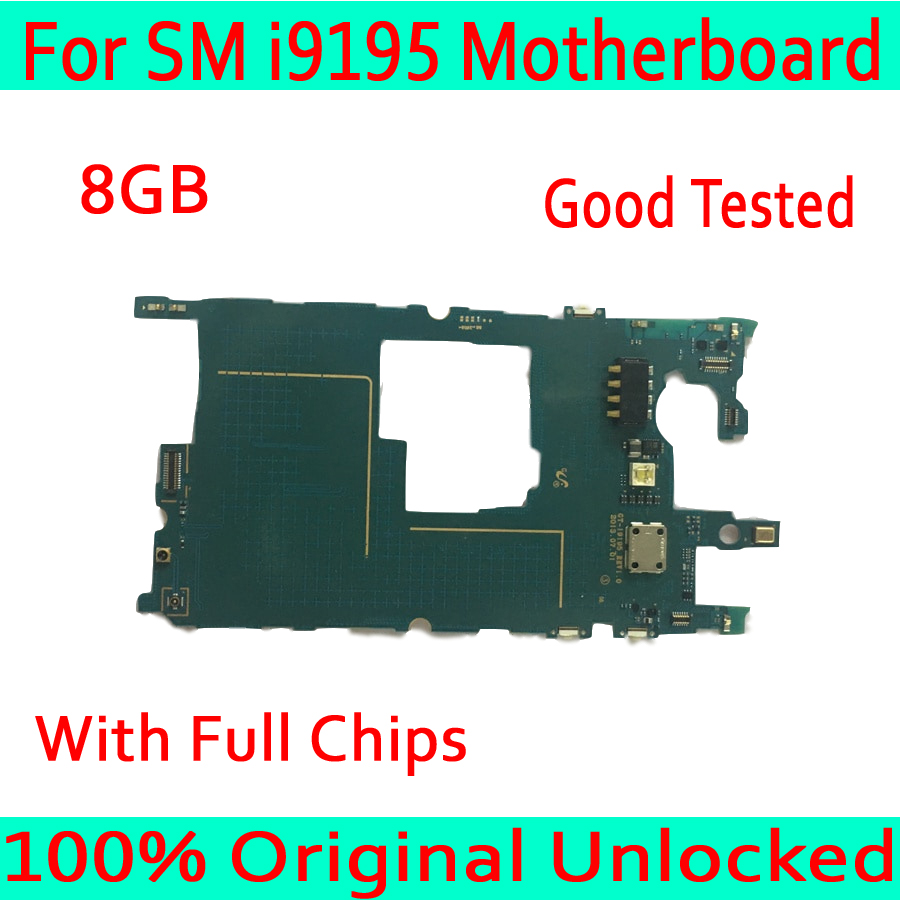 for <font><b>Samsung</b></font> <font><b>Galaxy</b></font> <font><b>S4</b></font> mini i9195 Motherboard with Chips,100% Original unlocked & Europe Version for <font><b>S4</b></font> mini i9195 Logic <font><b>Boards</b></font> image