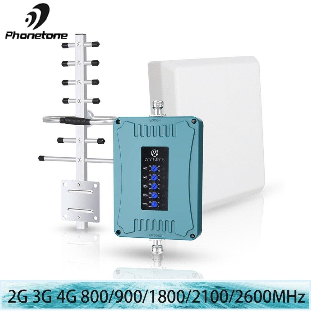 4G LTE/DCS 1800 МГц Сотовая связь усилительсигнала GSM 2G 3g 800/900/1800/2100/2600 МГц, репитер/ретранслятор сигнала Мобильный телефон Booster 70dB Booster комплект