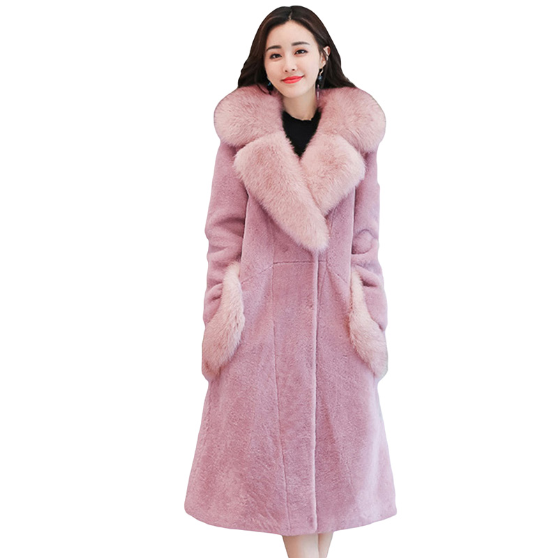 2017 New Autumn Winter High Quality Woolen Jacket  Cashmere Coat Fashion Plus Size Wool & Blends Women Long Wool Coats YP0561