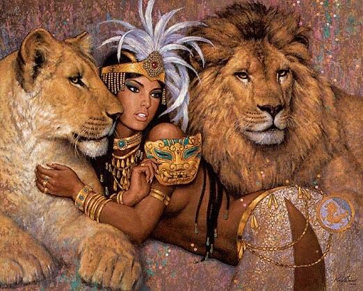 Artisanat de couture cadeau 14CT broderie non imprimée DMC Kit de point de croix compté de qualité/ensemble bricolage peinture à l'huile Femme Fatale Lions