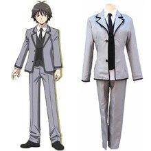 Japanese Anime Assassination Classroom Cosplay Costume Chiba Ryunosuke / Isogai Yuuma School Uniform ( Coat+Vest+Tie+Pants ) 89