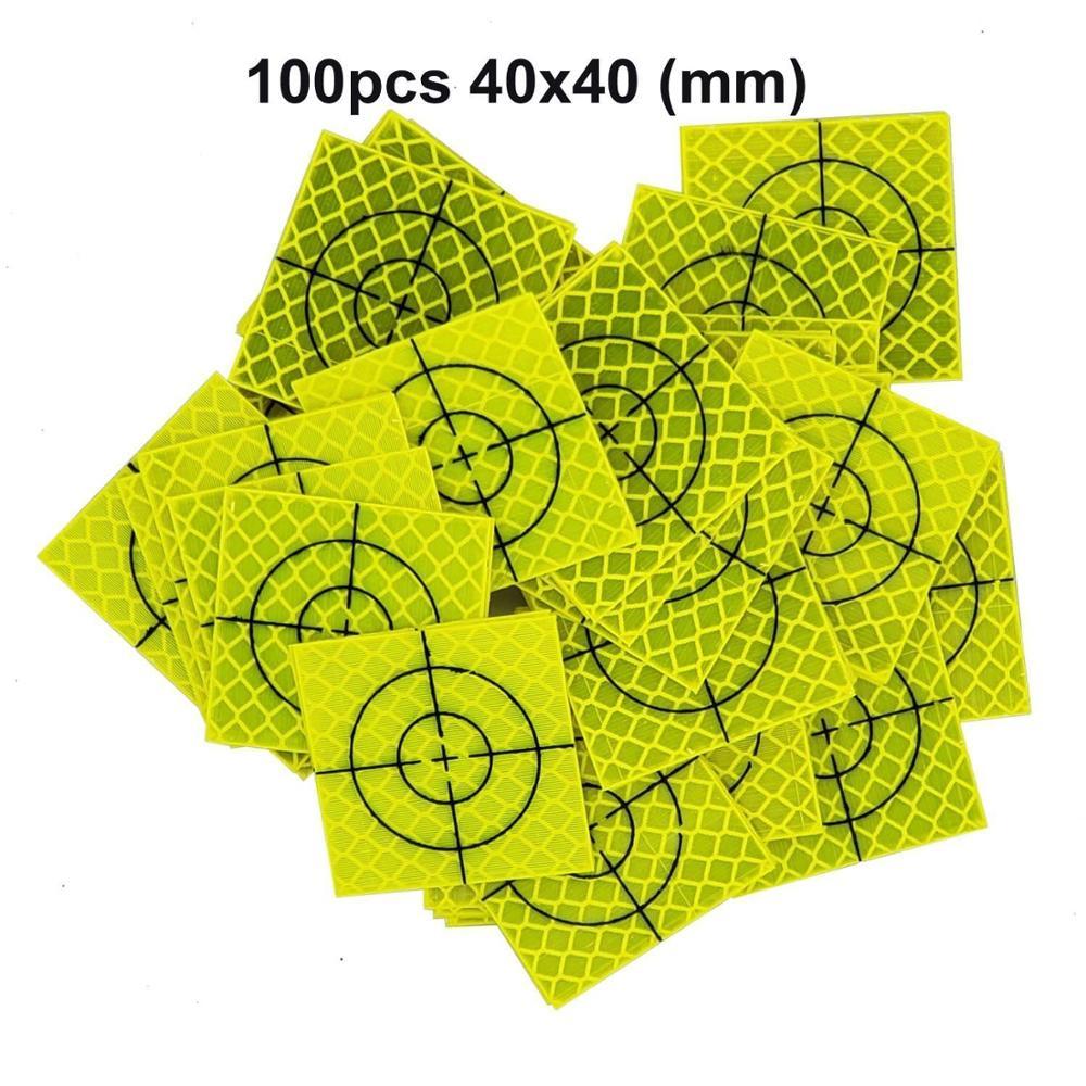 Новая флуоресцентная желто-зеленая ретро-отражающая мишень для общей станции