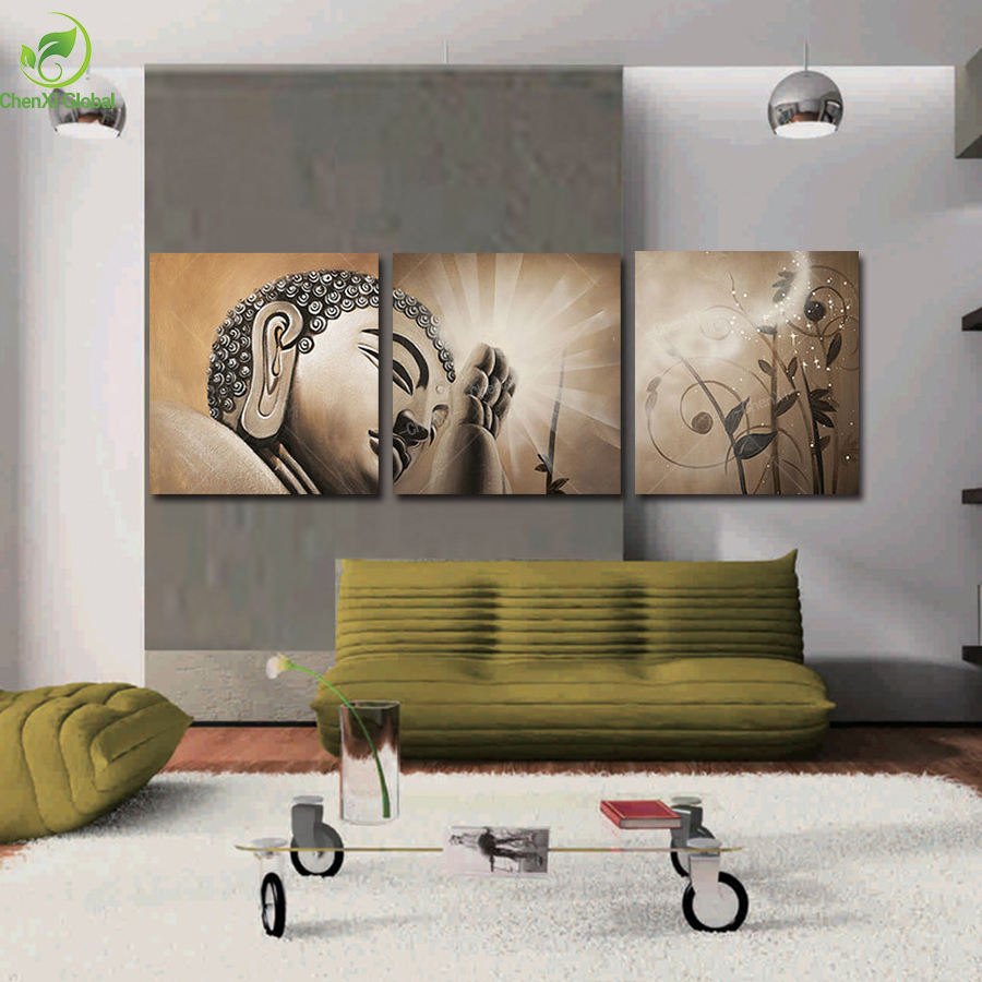 Painting Canvas For Living Room Popular Buddha Painting Canvas Buy Cheap Buddha Painting Canvas