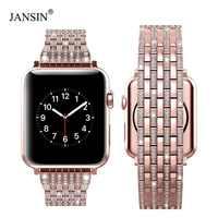 Luxus Strass Diamant Strap für apple watch 44mm 42mm 40mm 38mm Edelstahl Metall Uhr Band Für iWatch serie 5 4 3 2 1