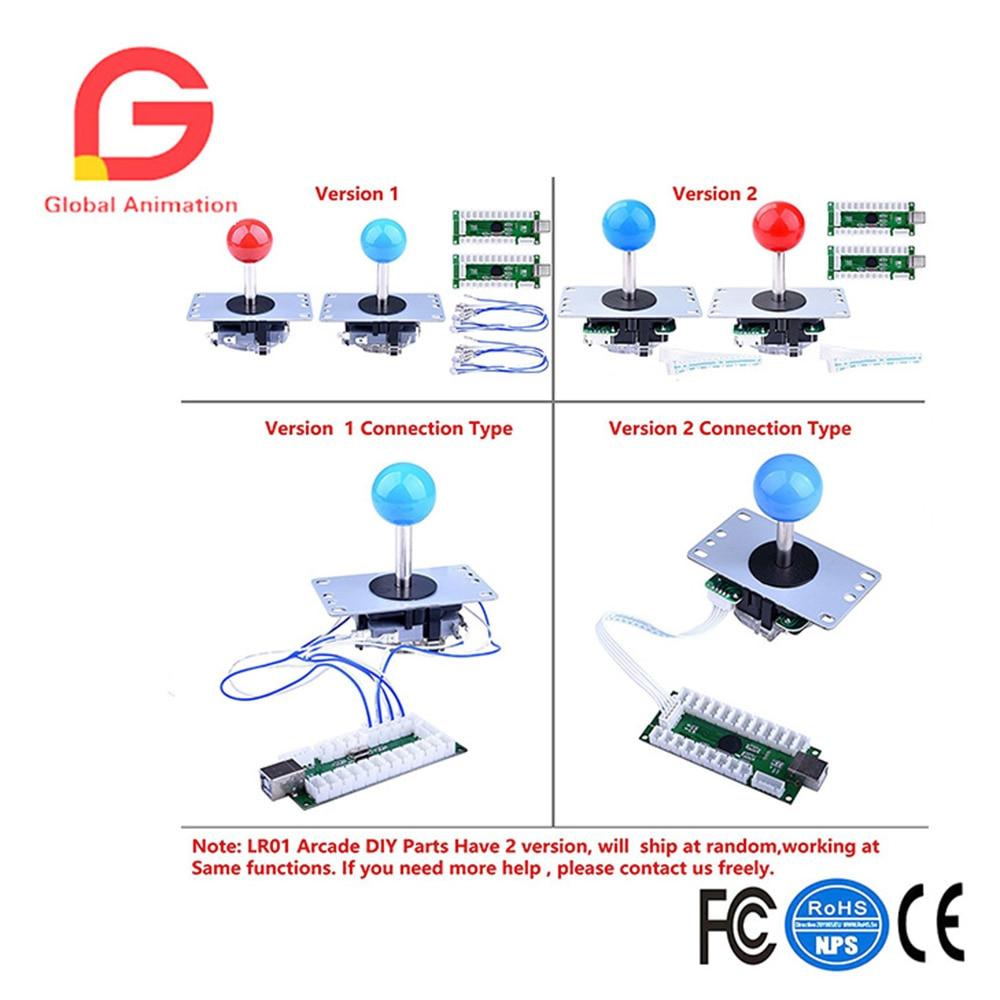 US $50 19 10% OFF|Aliexpress com : Buy For Raspberry Pi 3 2 Model B  Retropie LED Arcade DIY Parts 2x Zero Delay USB Encoder + 2x 8 Way Joystick  + 20x