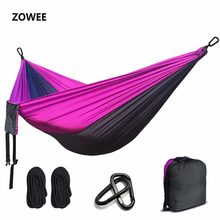 Portable Nylon Parachute Hammock Camping Survival Garden Hunting Leisure Hamac Travel Double Person Hamak Free shipping(China)