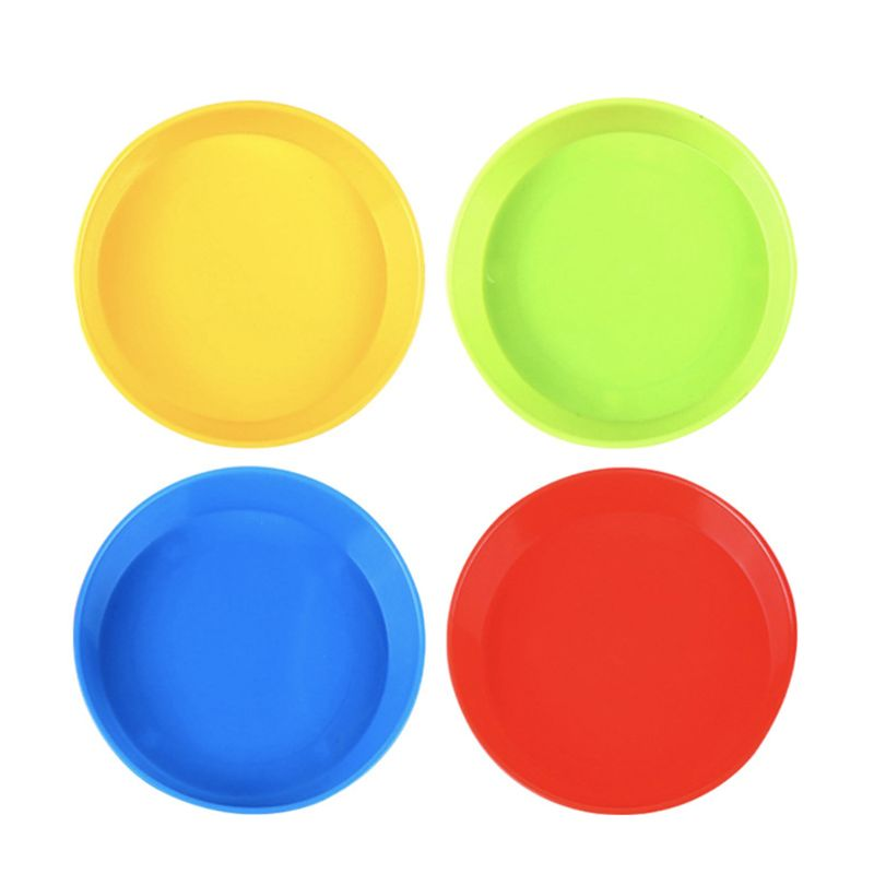 4 Pcs Children Kids Colorful Plastic Paint Palette Watercolor Tray Set Plate Drawing Tool Art Supplies