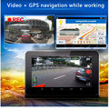"2016 Video DVR Car Camera 7"" Screen Android GPS Navigation Car Radar detector with Rear view camera 16GB free Map"