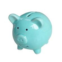 HOT Cute Ceramic Keepsake Piggy Bank Saving Cash Coin Money Box Children Toy Kids Gifts Home Collection Decorative