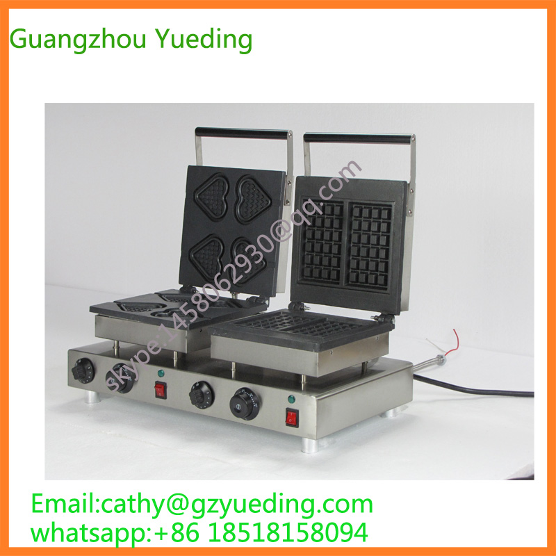 Excellent Quality Double Heads Heart Shape Commercial Waffle Maker/Waffle machine excellent quality double heads heart shape commercial waffle maker waffle machine