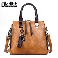 DIZHIGE Brand Luxury Handbags Women Bags Designer Tassel Shoulder Bags High Quality PU Leather Bag Women