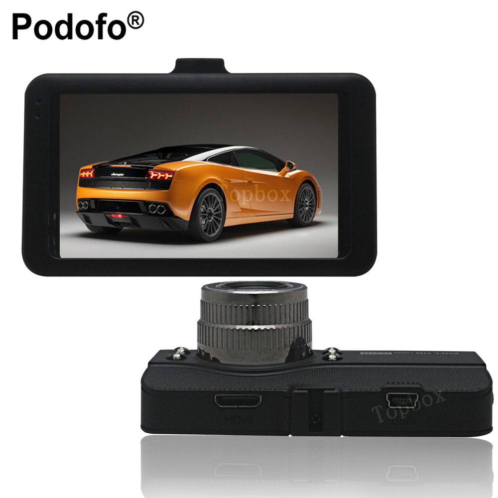 Podofo Novatek 96223 Car DVR 3 Inch Full HD Dash Cam Camcorder 170 Degree Wide Angle WDR G-Sensor Night Vision Car Camera стоимость