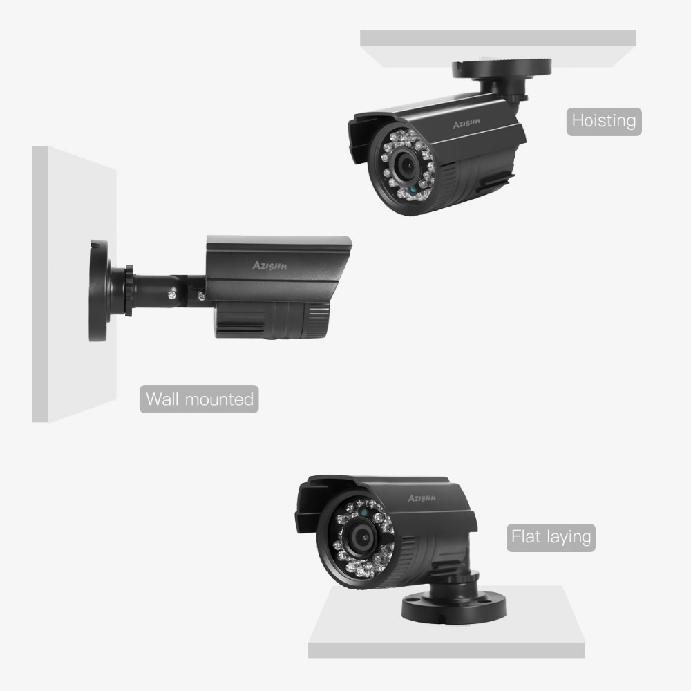 Image 5 - AZISHN CCTV Camera 800TVL/1000TVL  IR Cut Filter 24 Hour Day/Night Vision Video Outdoor Waterproof IR Bullet Surveillance Camera-in Surveillance Cameras from Security & Protection