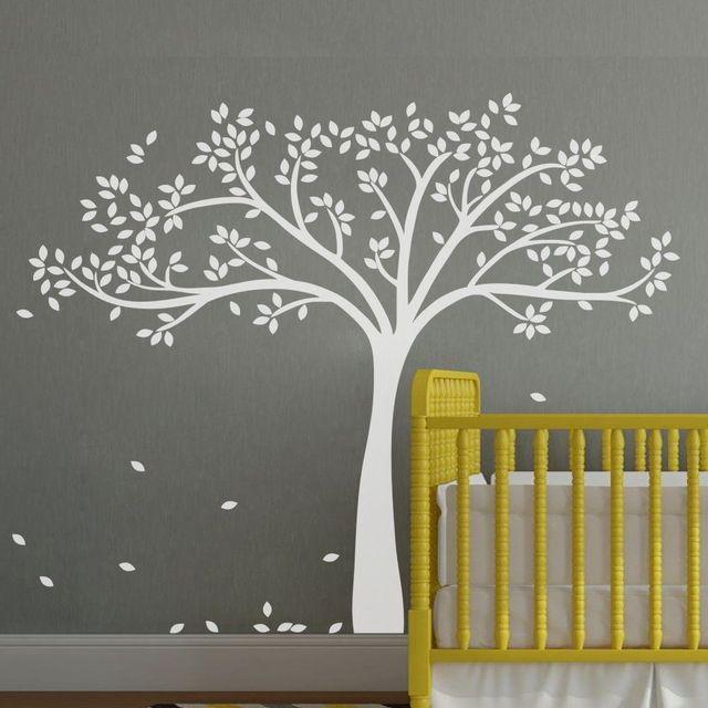 Merveilleux Grand Arbre Blanc Inspiration Wall Sticker Bébé Chambre De Bébé Amovible  Vinyle Art Décor Diy Stickers