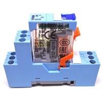 1 pcs releco 릴레이 C12-A21X + s12 dc24v 24vdc 2co 5a 릴레이 새롭고 독창적 인