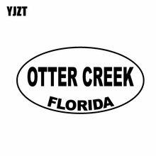 YJZT 14.9CM*7.9CM OTTER CREEK FLORIDA Oval Vinyl Decal Car Sticker Black Silver C10-01724