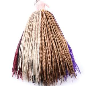 Box Braids Jumbo Crochet Blonde Syntheic-Hair Burgundy 110g Ombre for Brown 24-1cm-Width