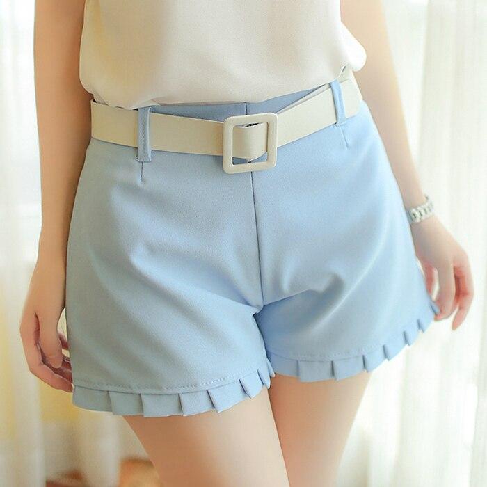Aliexpress.com : Buy Ruffles Short Summer Fashion Women High Waist ...