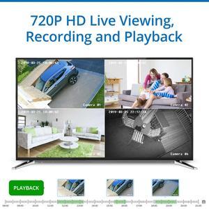 Image 4 - SANNCE 8CH 720P Cctv systeem HD 1080P DVR Kit 6PCS 1.0MP Beveiligingscameras IR nacht waterdichte Surveillance kit